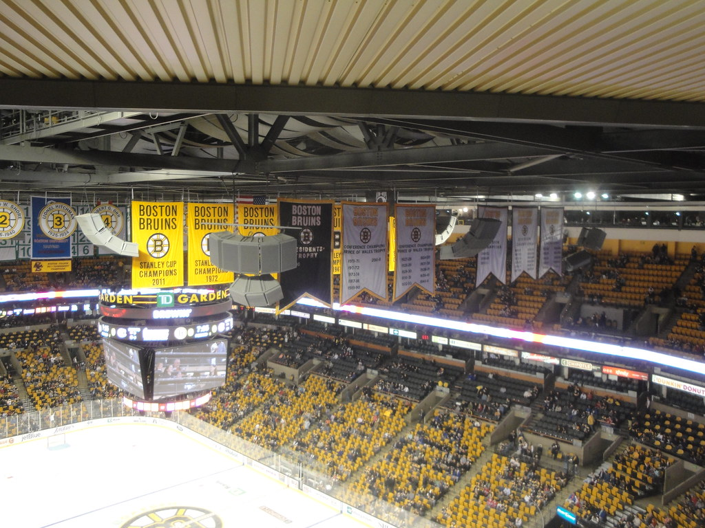 Bruins Banners At The Montreal Canadiens Vs Boston