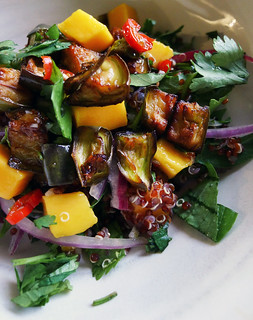 quinoa, mango, and eggplant salad | by chotda