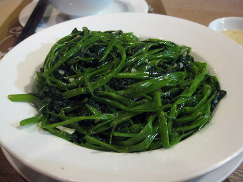 Stir-fried water spinach with garlic | by mariamjaan
