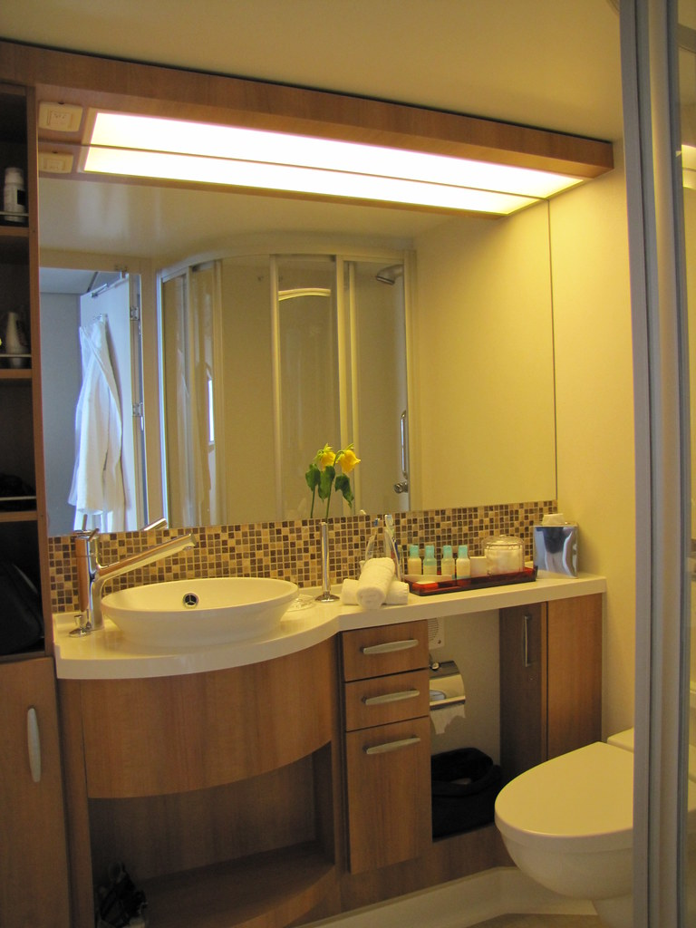 Celebrity equinox img 3614 bathroom of concierge class for Celebrity equinox cabins photos