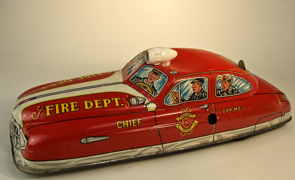 fire chief car brandchefs bil toy car in lithographed ti flickr. Black Bedroom Furniture Sets. Home Design Ideas