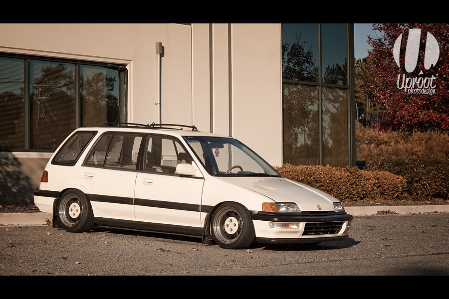 Cream Machine - Honda Civic Wagon | RevMaynard's cream Honda… | Flickr