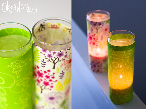 Fabric Covered Candle Lights | by Oksancia