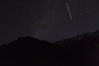 Southern Cross and The ISS Passing over the Southern Alps | by Astronomr