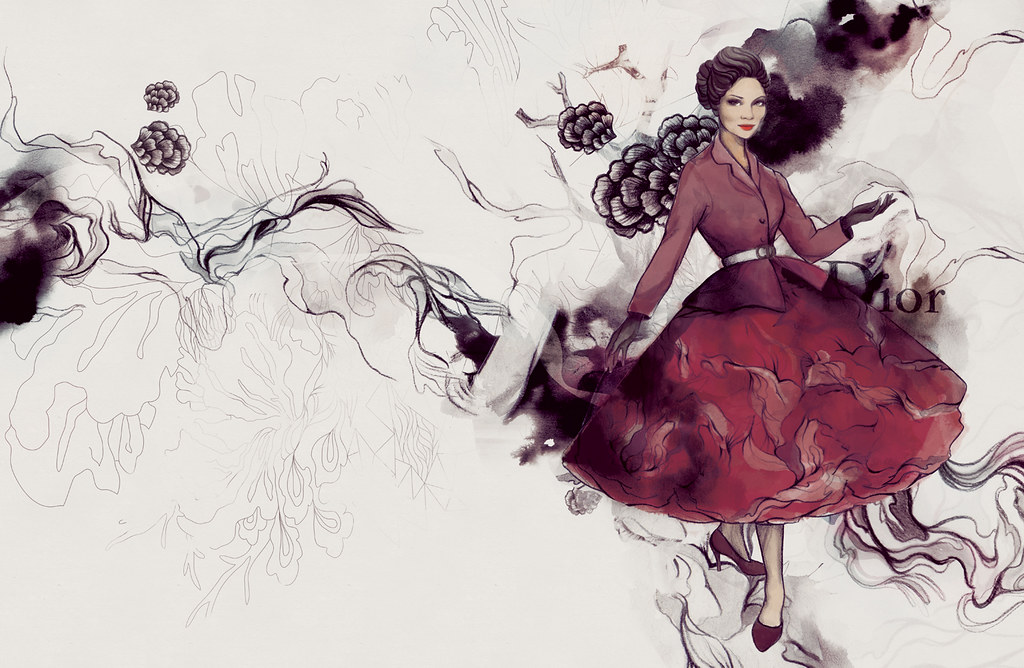 Imelda Marcos in Christian Dior | Illustrated some of the Ph… | Flickr