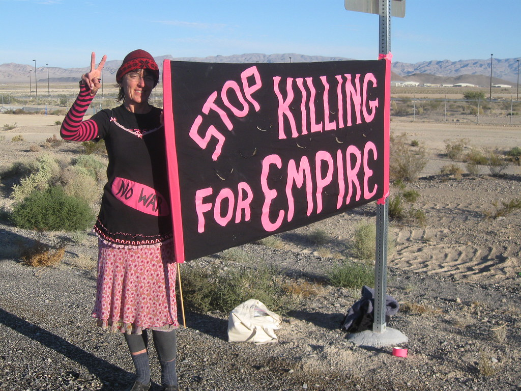 Creech AFB Nevada Oct 2011 Anti drone campaign 005 | by codepinkphoenix