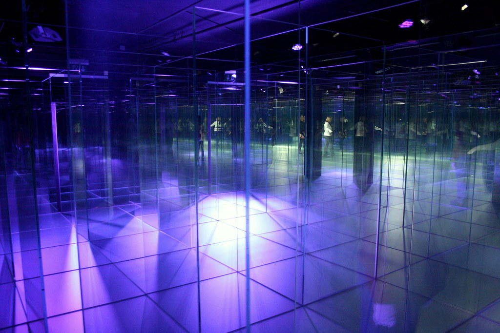Glass Maze At The Glassi Hergiswil Factory You Can See