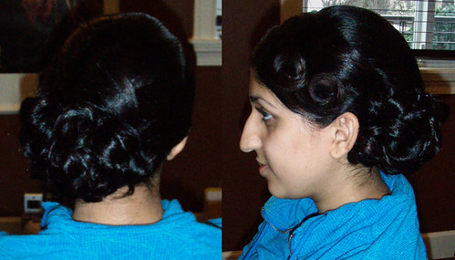 indian-hairstyle-updo-wedding | by vanmobilehair