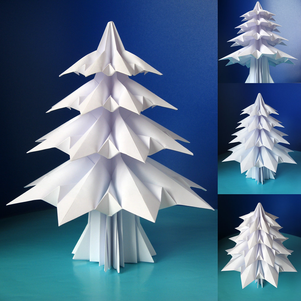 Как сделать 3 в елку из бумаги
