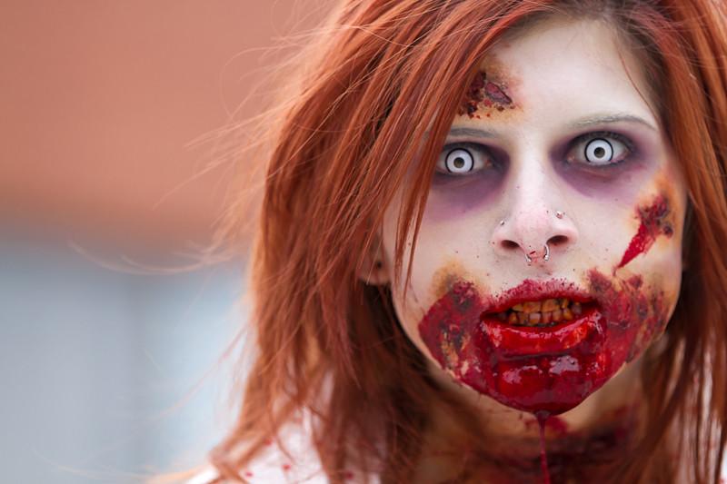 Girly zombie makeup