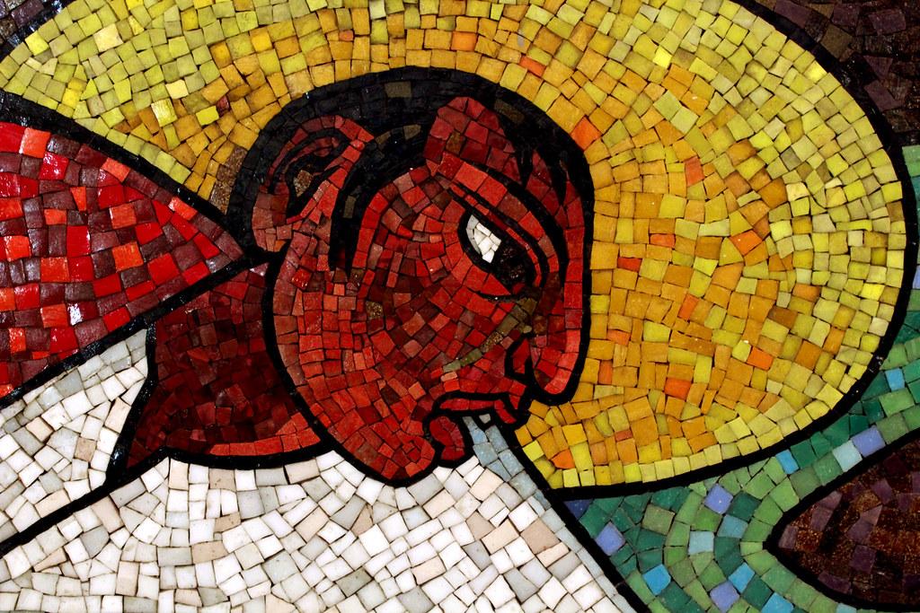 Fragmento del mural r o juchit n diego rivera ivan for El mural de mosaicos