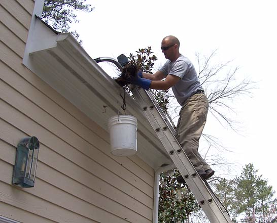 cleaning gutters without a ladder