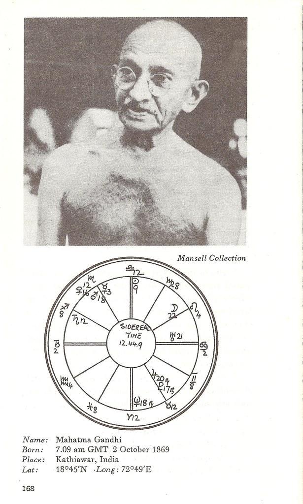 Mahatma Gandhi Astrology Chart Capricornonevintage Flickr