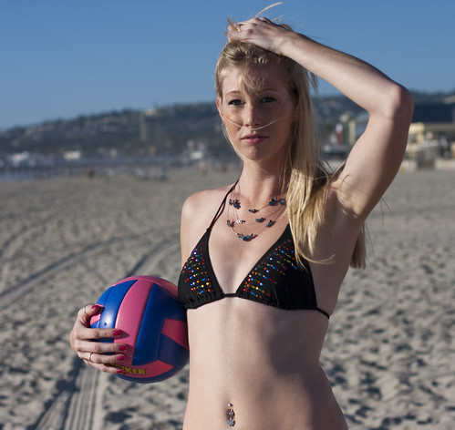 Shannon with beach volleyball | by San Diego Shooter