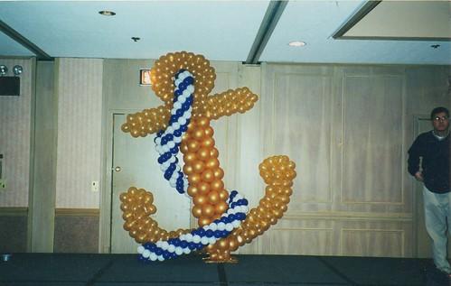 Balloon sculpture anchor balloons by for Anchor balloon decoration