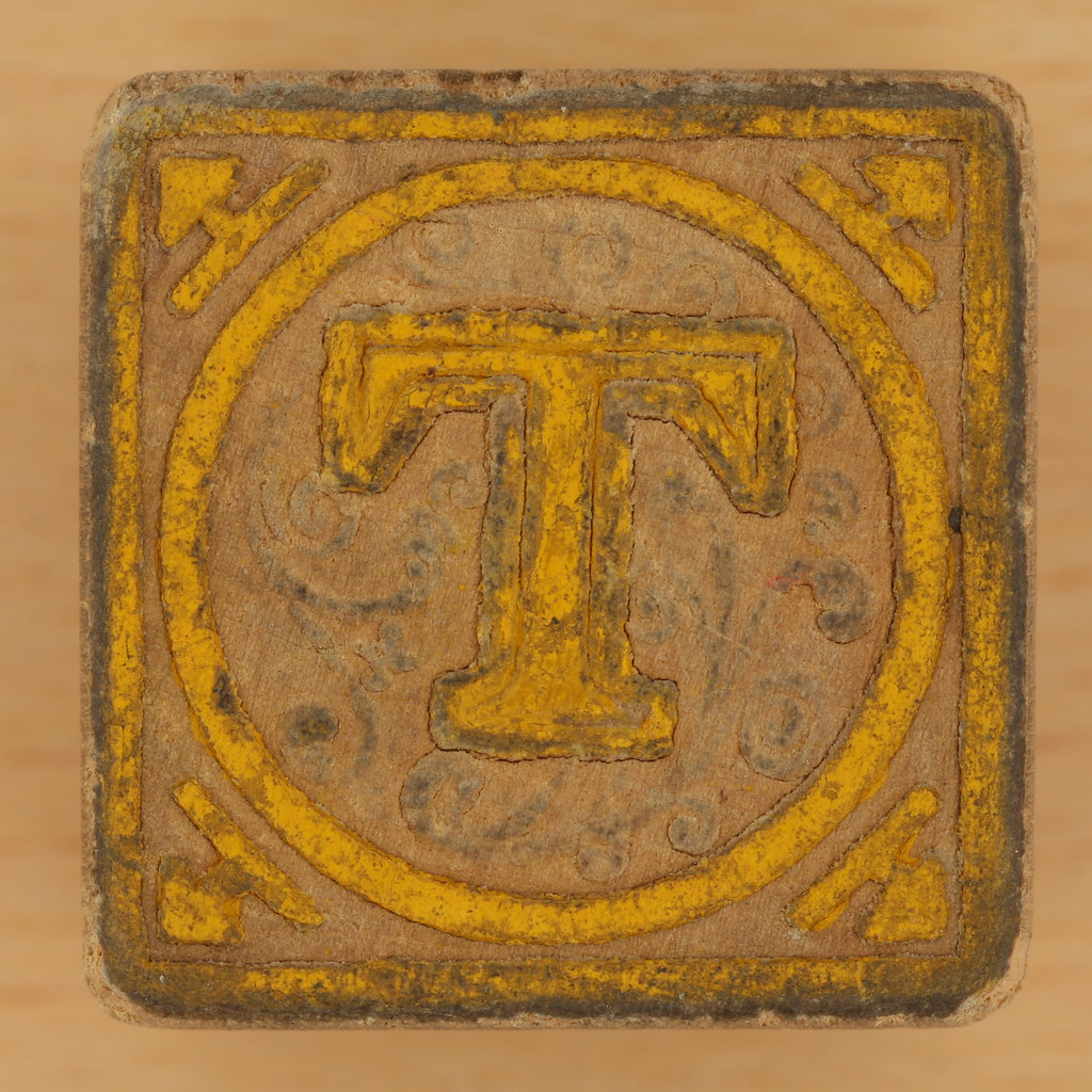 Vintage Wooden Block Letter T  Leo Reynolds  Flickr