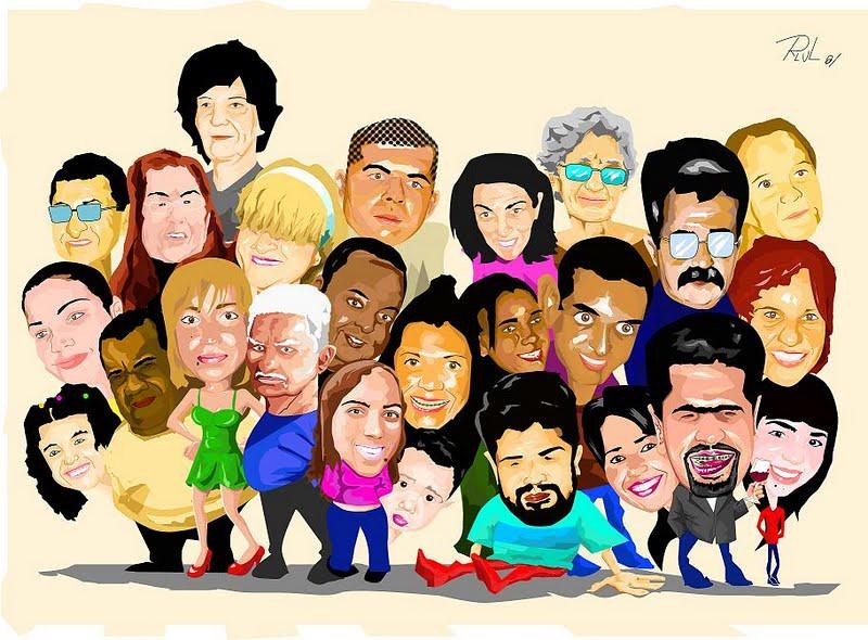 Feliz Personas Exitosas En Caricaturas: Caricatura - A Grande Família