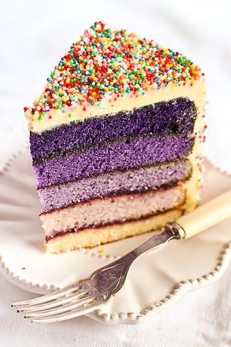 Purple Ombre Cake Recipe