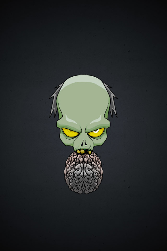Zombie brain iphone wallpaper joe payton flickr - Brain wallpaper 3d ...