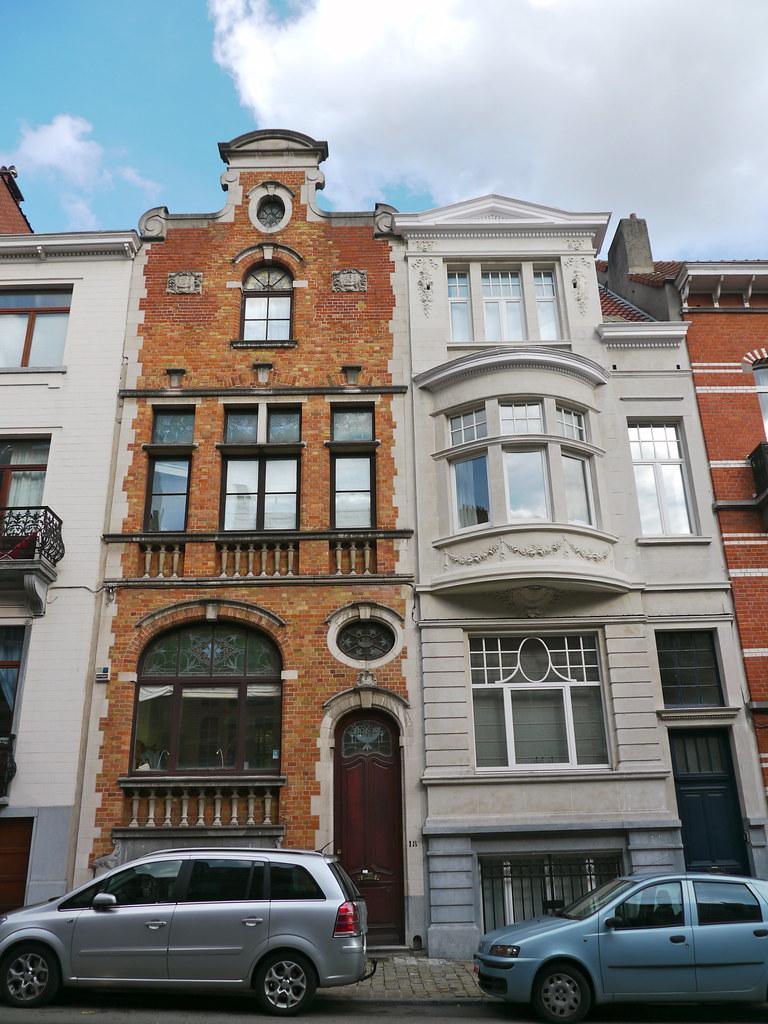 Bruxelles, Belgique: deux maisons de maître de style éclec… | Flickr