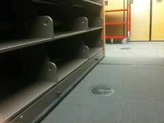 Compact Shelving over Raised Floor