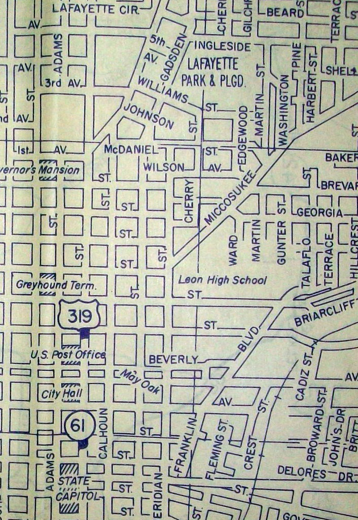 Tallahassee FL (May 1959) | Map by Mapco. This map features … | Flickr