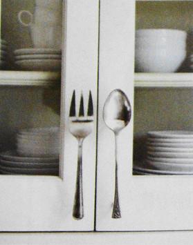 Silverware Cabinet Handles Fork Amp Spoon Repurpose Flickr