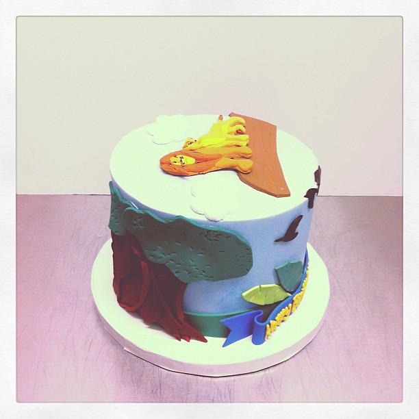 Marvelous Lion King Birthday Cake Polkadots Olga Flickr Birthday Cards Printable Opercafe Filternl
