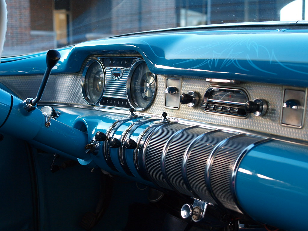 1955 Buick Century Dash Classic Color And Style Flickr