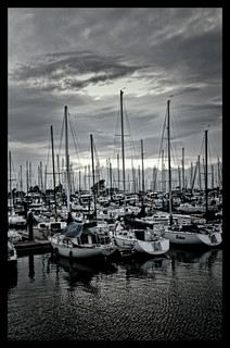 Marina in Alameda, Calif.  b&w | by robert_sdennis11