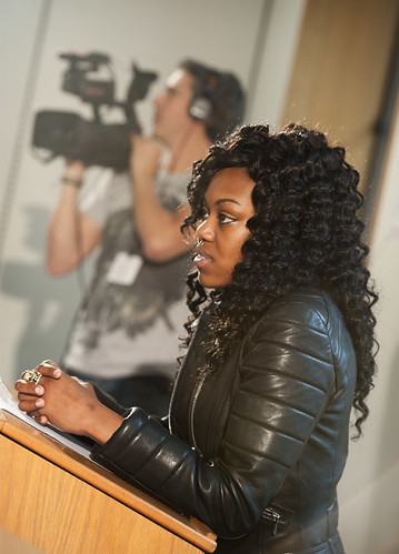 Lady Leshurr watches the action | by UK Parliament