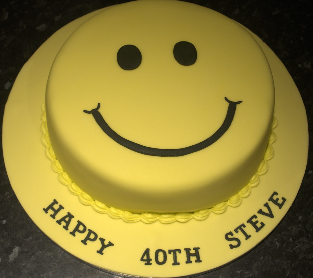 Acid House Smiley Face Happy 40th Birthday Steve Flickr
