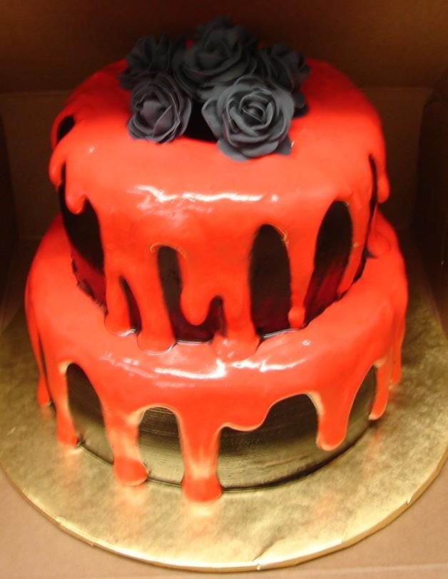Elegant Goth Birthday Cake Elegant Goth Birthday Cake Thi Flickr