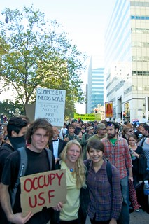 marching from occupy camp to the port | by lilyrhoads