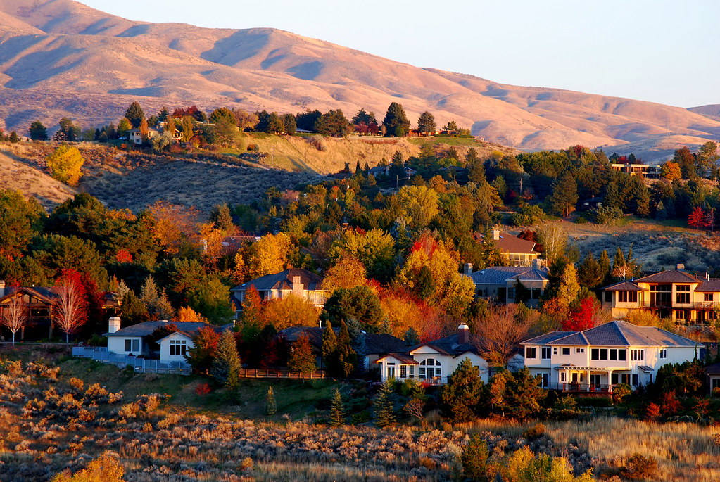 Boise Foothills At Sunset Fall Colors At Sunset In The
