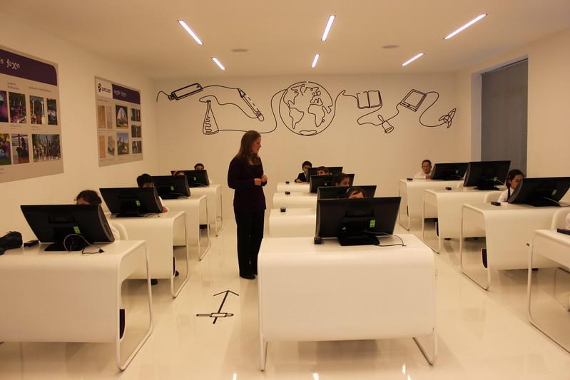 Modern Day Classroom Technology ~ მომავლის კლასი ყვარელში საქართველოს პრეზიდენტმა მიხეილ