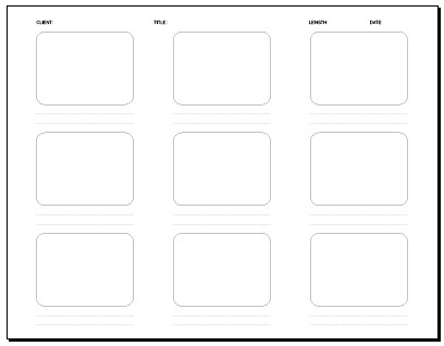 09 Frame Storyboard 11 X 8.5 In. | Storyboard Template: Pdf … | Flickr
