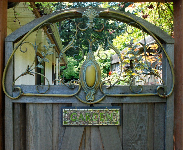 Home Design Gate Ideas: Garden Sign By Nutmeg Designs On A Magical Garden Gate