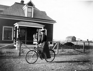 Woman on Bicycle | by Galt Museum & Archives on The Commons