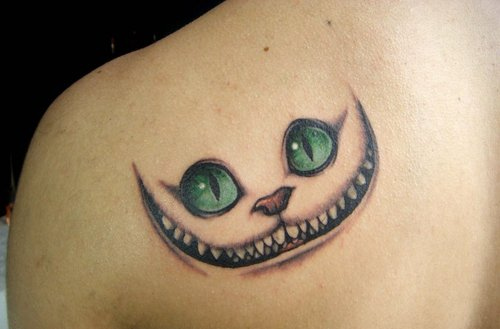 Alice In Wonderland Art Beautiful Cheshire Cat Tattoo Favi Flickr