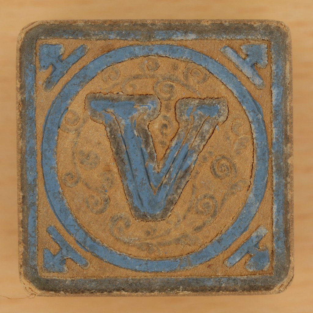 Vintage Wooden Block Letter V  Leo Reynolds  Flickr