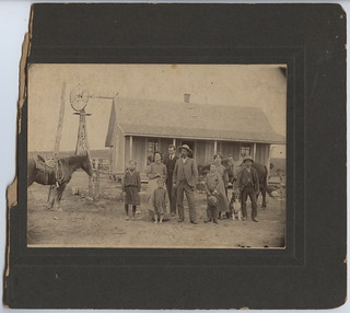 [Ranch family and ranch house, Henrietta, Texas] | by SMU Central University Libraries