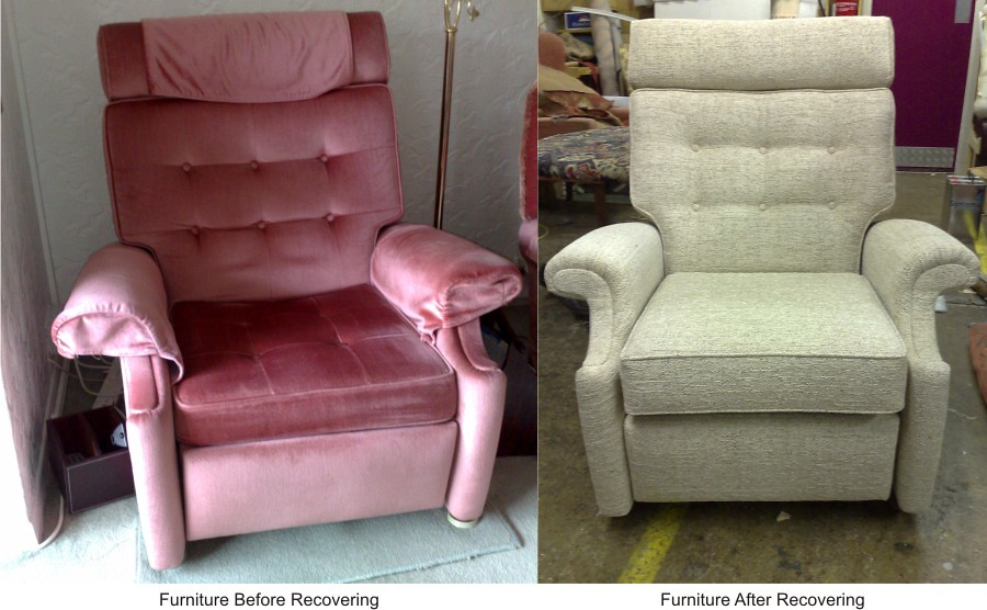 parker knoll recliner chair before and after reupholstery flickr