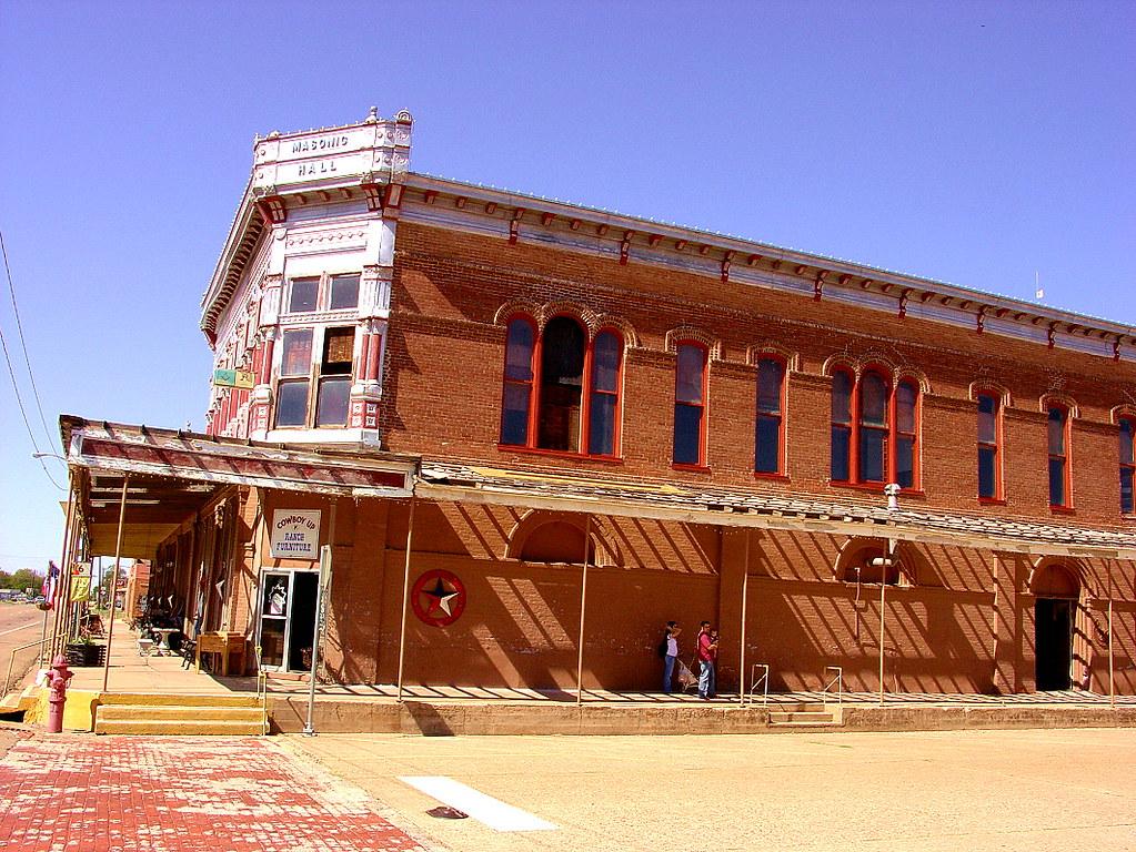 Calvert Tx Cowboy Up Masonic Hall 1880 S Italianate