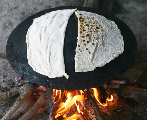 Cooking the Gutabs, Azerbaijani Filled Flatbreads, on a Saj | by AZ Cookbook