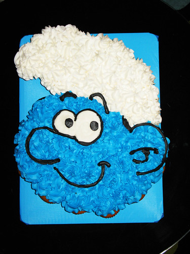 Smurf Pull A Part Cake Custom Smurf Pull A Part Cupcake