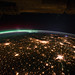 Midwestern U.S. at Night With Aurora Borealis (NASA, International Space Station, 09/29/11)