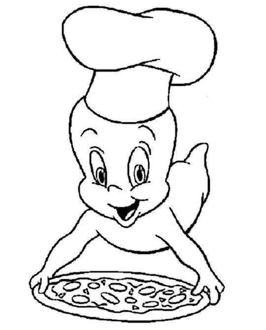 Casper the friendly pizza delivery ghost kelly garbato for Casper the friendly ghost coloring pages