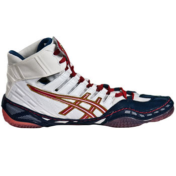 Asics-Omniflex-Pursuit-WrestlingShoes-NavyWhiteRed-1 | by wrestlinggear