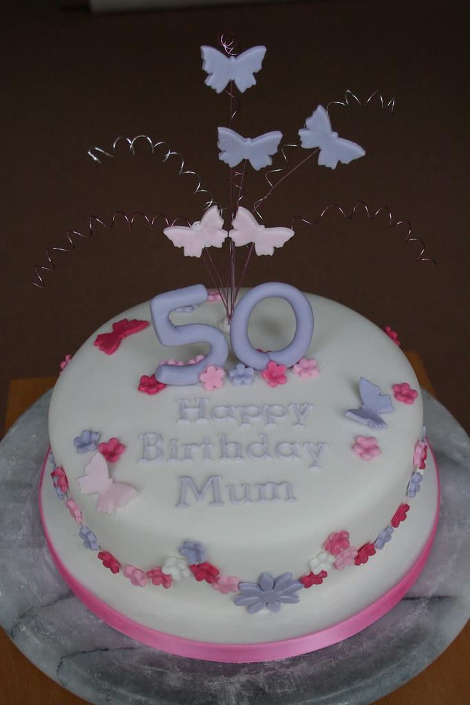 Flowers Butterflies Birthday Cake Janet Whitehead Flickr